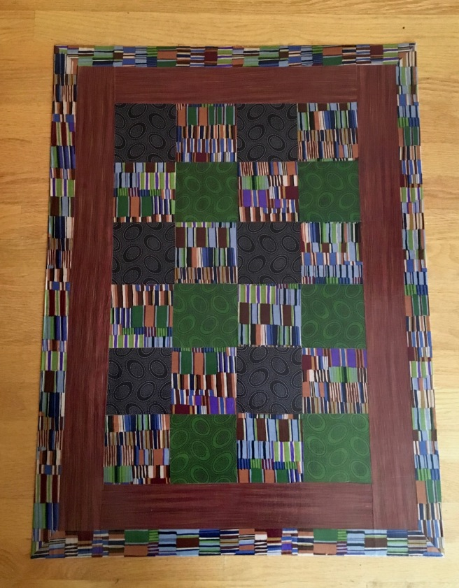 Brown Shirting and Abor. ovals squares